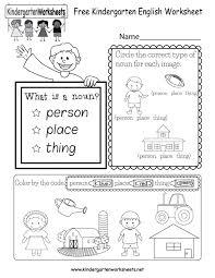 Kindergarten Worksheets English Grammar | Homeshealth.info