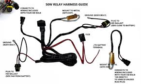 hid kit installation guide 50w relay harness wiring guide