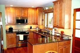 natural maple cabinets with white countertops light quartz