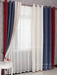 Boys Bedroom Curtains in Red Blue and White Combined Colors for Eco ...