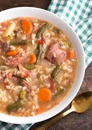 slow cooker ham vegetable barley soup