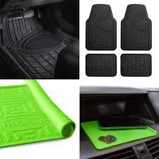 green car floor mats. Beautiful Car All Weather Car Floor Mats For Auto Sedan SUV Custom Fit Black WGreen Dash For Green T