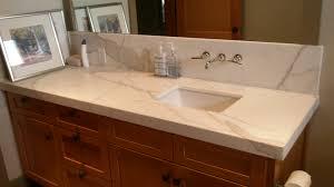 marble bathroom countertops. Vanity Cabinet And Calacatta Marble Countertops With Bathroom Mirror C