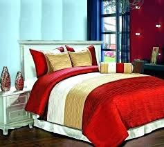 Red And Black Queen Comforter Set Black And Red Bed Sets Red Black ...