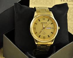 luxury 18k gold plated stainless steel analog quartz date day mens luxury 18k gold plated stainless steel analog quartz date day mens wrist watch