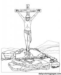Jesus On The Cross Coloring Page intended to Motivate in coloring ...