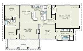 ranch style floor plans. Simple 3 Bedroom House Plans Without Garage Ranch Style Plan Beds 2 Baths . Floor H