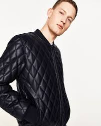 FAUX LEATHER QUILTED BOMBER JACKET - Padded-JACKETS-MAN-SALE ... & Image 5 of FAUX LEATHER QUILTED BOMBER JACKET from Zara Adamdwight.com
