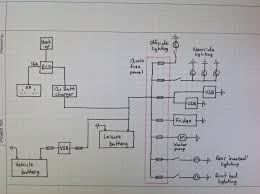 t5adventures tales of our journey towards a campervan and beyond i d already developed a wiring diagram for the van although i need to add an extra 12v feed for an eberspacher heater which will be a future purchase for