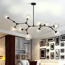 ball chandelier lights black gold glass ball branching drop hanging light modern glass chandelier light for