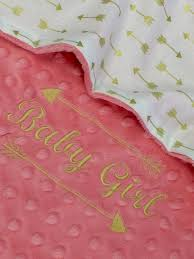 Baby Boos Designs Gold Arrow Baby Blanket Coral And Gold Cotton Baby Blanket
