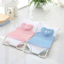 2019 new design foldable baby bath tub bed pad bath chair shelf baby shower nets newborn seat infant bathtub support from newyearable 47 63 dhgate com