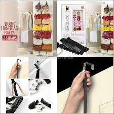 Coat Bag Rack Adjustable Over Door Straps Hanger end 100100100 1001100 PM 61