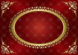 red vintage greeting card with gold frame vector image vector ilration of holiday pavalena to zoom