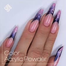 chameleon rainbow powder nails designs