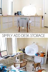 home office desk storage. Cube Organizers And A Homemade Desktop You\u0027ve Got Some Serious Storage The Home Office Desk S