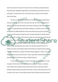 illuminati in english literature research paper illuminati in english literature essay example text preview