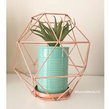 Small Picture Kmart Australia copper geo candle holder with turquoise plant pot