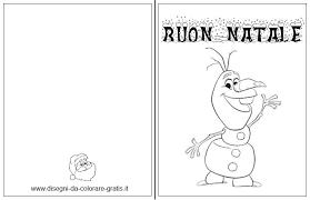 Biglietto Auguri Di Natale Da Stampare E Colorare Con Olaf Di Frozen