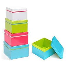Decorative Gift Boxes With Lids Amazon Xonex Linea Nesting Boxes Set of 60 Nested Gift Boxes 46