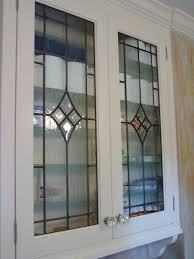 stained glass cabinet doors inserts beveled etched art with door ideas kitchen patterns do stained glass cabinet