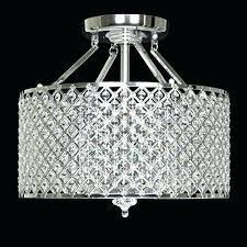 semi flush crystal chandelier chrome round shade crystal semi flush mount chandelier 4 with regard to