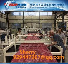 pvc plastic roofing tile extrusion making line plastic roof machine extruder images