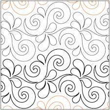73 best Quilting Pantographs images on Pinterest | Quilting ... & Wave on Wave $.015 per square inch Adamdwight.com