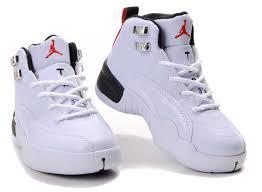jordan shoes for kids. children air jordan 12 white side black sole shoes for kids t