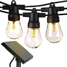 Solar Powered Retro Style String Light Bulbs Brightech Ambience Pro Waterproof Led Outdoor Solar String Lights 1w Vintage Edison Bulbs 27 Ft Heavy Duty Patio Lights Create Cafe Ambience On