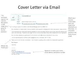 Cover Letter For Resume Samples Cover Letter For Email Resume Cover