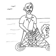 Small Picture Fisherman Coloring Pages For Your Kids