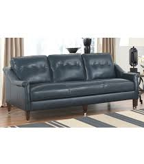 navy blue leather sofa. Kingston Leather Sofa Navy Blue H