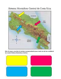 Que tiene montañas o es propio de las montañas: Ejercicio De Sistema Montanoso Central De Costa Rica