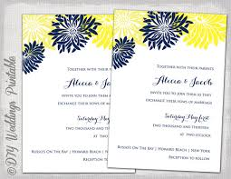 wedding invitation template yellow & navy blue diy summer wedding Wedding Invitations Navy And Yellow wedding invitation template yellow & navy blue diy summer wedding invitations \