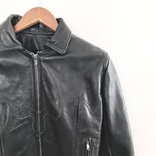 details about vintage bike womens leather motorcycle jacket size 10 steampunk gypsy leather