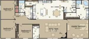 >double wide mobile homes floor plans home design decorating double  1996 redman mobile home floor plans
