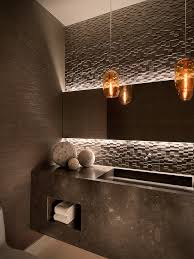 powder room bathroom lighting ideas. lincoln place by ownby design houzz love the lighting detail on mirror stone accent wall and sink powder room bathroom ideas