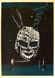 best donnie darko images donnie darko movie  donnie darko by peter strain 2 colour screenprint by peter strain based on the movie donnie