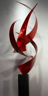 wilmos kovacs  modern abstract inoutdoor metal sculpture rainbow