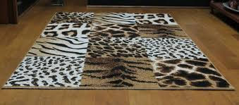 details about safari animal print out of africa tiger leopard print area rug rug207 160