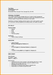 Cv Personal Statement Examples Resume Template Resume Example Uk