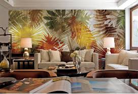 Small Picture Custom Room Wallpaper Home Decor 3D Photo Mural Palm Tree Leaf Art