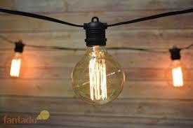 cage lighting. 24 Socket Outdoor Commercial String Light Set, Edison G95 Squirrel Cage Bulbs, 54 FT Black Cord, Weatherproof Lighting V