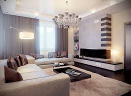 Glamorous Neutral Modern Living Room With Wooden Floor And Beige Sofa Image