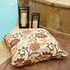 outdoor floor cushions. Mozaic Company Sunbrella Corded Indoor/Outdoor Large 26 In. Square Floor Pillow Outdoor Cushions