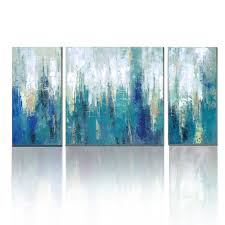 teal canvas wall art uk