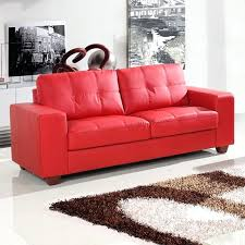 red leather sofa new red leather sofa red leather look sofa beds