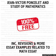 jean victor poncelet and study of mathematics essay jean victor poncelet and study of mathematics