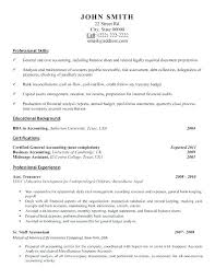 Sample Resume Of Accounting Clerk Sample Cover Letter For Accounting